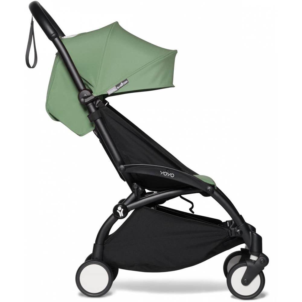 Прогулочная коляска Babyzen YoYo 2, Peppermint Black (зеленый цвет на черной раме)