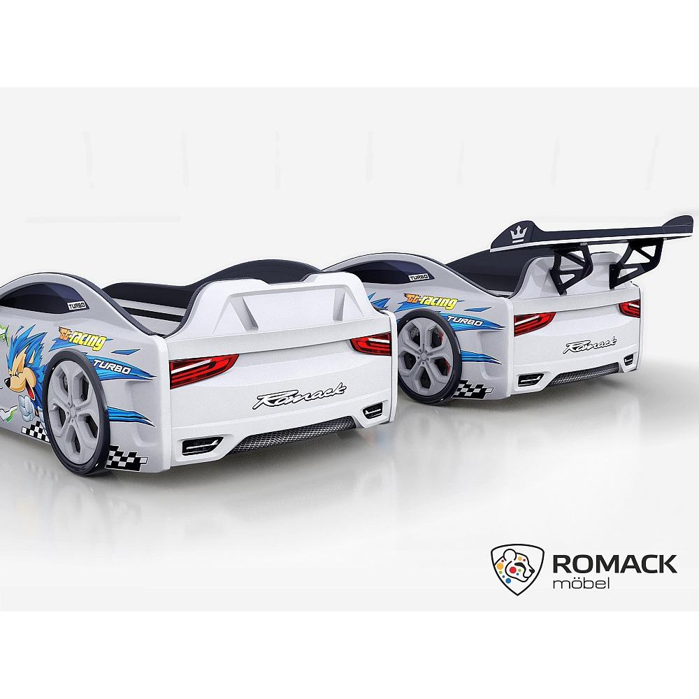 Кровать-машина Romack Dreamer Ёжик белая